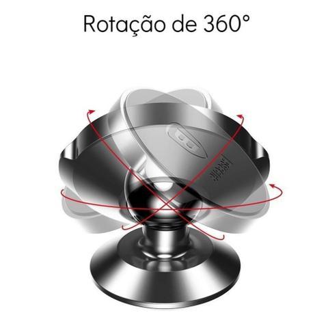 Imagem de Suporte De Celular Veicular Magnético 360º Baseus Preto Fixação Painel