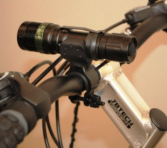 Imagem de Suporte De Lanterna Tática Para Guidão Bicicleta Gira 360