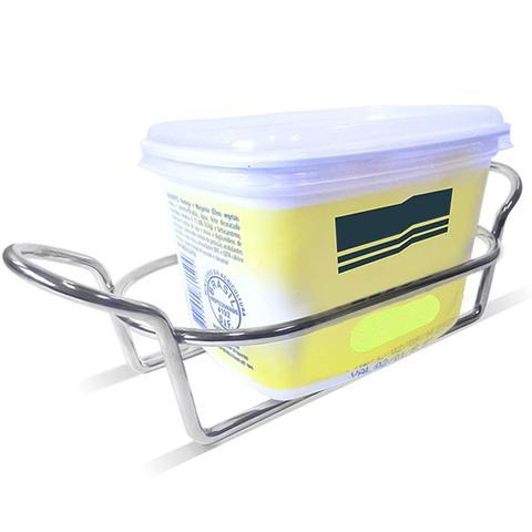 Imagem de Suporte De Margarina Porta Pote De Margarina Aço Cromado