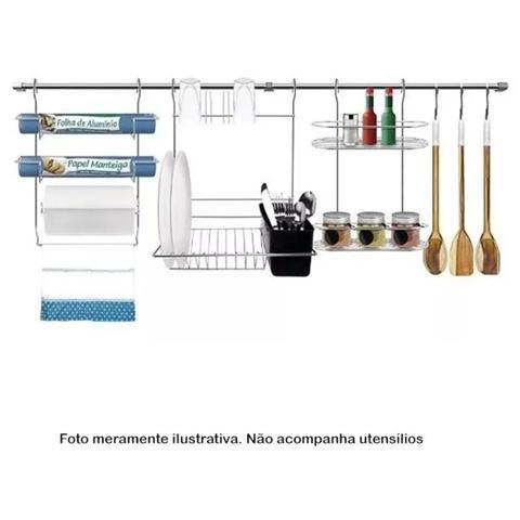 Imagem de Suporte de Parede Escorredor Prato Copo Talher Bella Cucina Kit 5 - Stolf