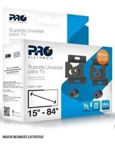 Imagem de Suporte De Parede Fixo Universal P/ Tv Proeletronic