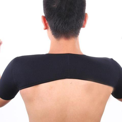 Imagem de Suporte Duplo Para 2 Ombros Neoprene Ajustável Preto