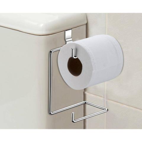 Imagem de Suporte Duplo Porta Papel Higiênico Para Caixa De Descarga / Acoplada