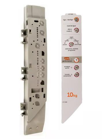 Imagem de suporte e Adesivo lado DIREITO compatível Máquina De Lavar Roupas Brastemp BWC10A CLEAN TURBO