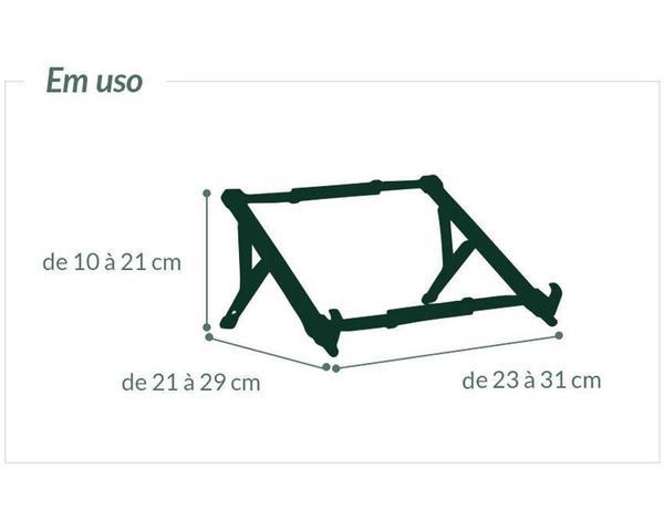 Imagem de Suporte Ergonomico Regulável NR17 para Notebook Reliza 0026 Preto