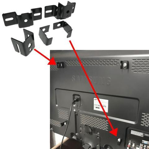 Imagem de Suporte Fixo Para Tv Para Quarto Sony Samsung LG Philco Philips Panasonic Smart Lcd Led 3d 32 43 55 50 62 Polegadas