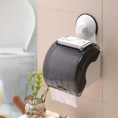 Imagem de Suporte Impermeável de Papel Higiênico para Banheiros com Ventosa de Sucção