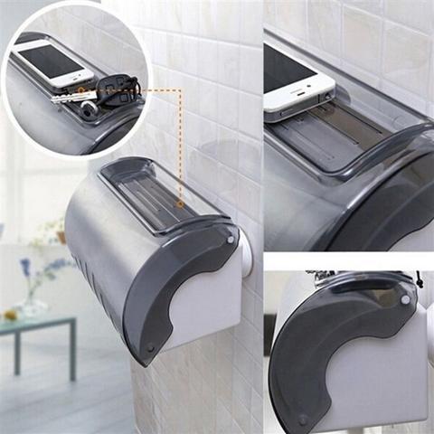 Imagem de Suporte Impermeável Duplo de Papel Higiênico ou Toalha de Papel para Banheiros com Ventosa de Sucção