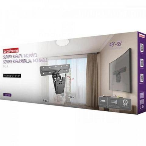 Imagem de Suporte Inclinavel de Parede para TV QLED Samsung Q7TM Q8TM Q9TM de 49 a 65 Brasforma