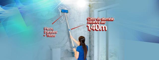 Imagem de Suporte Limpa Tudo conjunto com cabo de 140 cm e duas fibras limpa azulejo piso