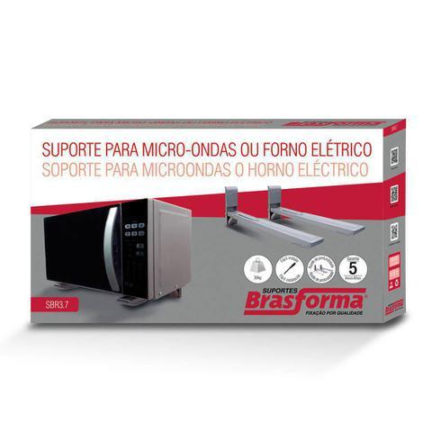 Imagem de Suporte micro-ondas ou forno elétrico - CS0038P prata
