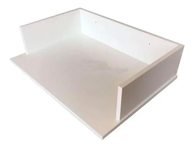 Imagem de Suporte Microondas Forno Forninho Nicho 60x15x43 Mdf Branco para Electrolux 20 25 30 31 32 Litros ou Maior Parede Suspen