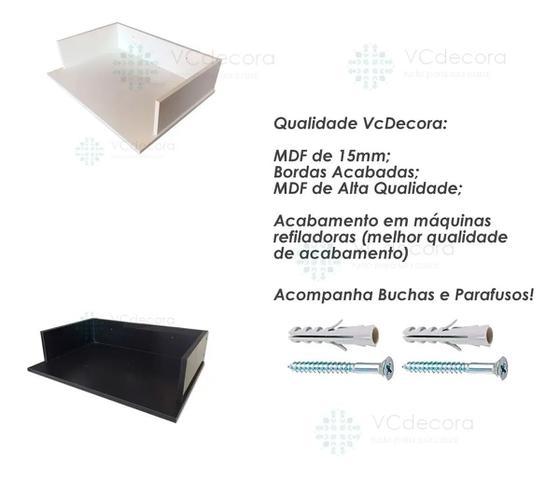 Imagem de Suporte Microondas Forno Forninho Nicho 60x15x43 Mdf Preto para Electrolux 20 25 30 31 32 Litros ou Maior Parede Suspens