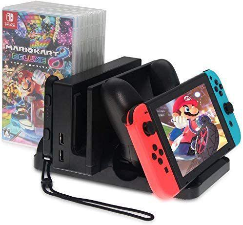 Imagem de Suporte Multifuncional Nintendo Switch Dock Carregador Stand