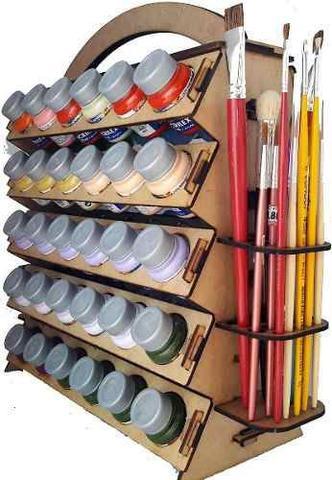 Imagem de Suporte Organizador P/ Tinta P/ Tecido PVA Acrilex e Pinceis