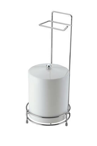 Imagem de Suporte P/ Papel Higienico E Lixeira - Prata com Metalico - SCH2512 - Aramados Schmidt