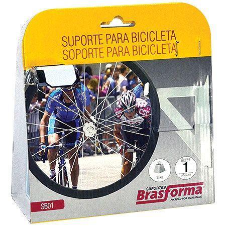 Imagem de Suporte Para Bicicleta Branco Sb01 Brasforma