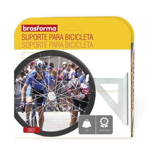 Imagem de Suporte para bicicleta fixação teto ou parede SB01 Brasforma