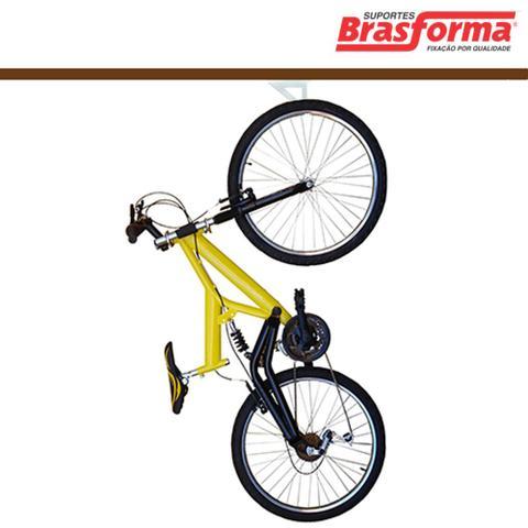 Imagem de Suporte Para Bicicleta Teto/Parede Branco SB01 - Brasforma