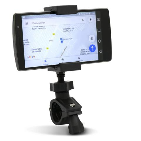 Imagem de Suporte para Celular GPS Moto Bicicleta até 7 Polegadas para Guidão ou Retrovisor