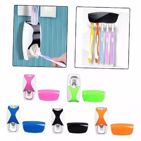 Imagem de Suporte Para Escovas e Dispenser Creme Dental Automático