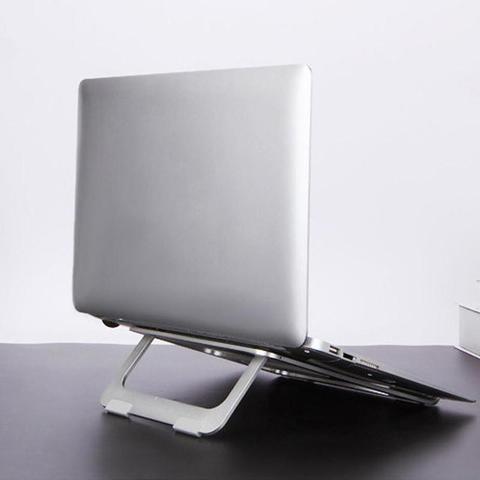 Imagem de Suporte Para Macbook Notebook iLuck Base Para Mesa em Alumínio Prata de 10 a 15 Polegadas