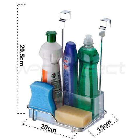 Imagem de Suporte para Sabão/Detergente e Esponja Para Porta Armário
