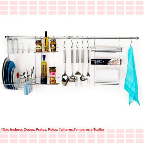 Imagem de Suporte para Utensílios Cook Home 10 10 Peças Aço Cromado Escorredor Tempero Rolos Gancho para Arthi 1410