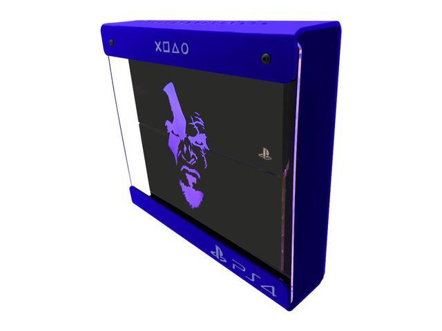 Imagem de Suporte Parede Iluminado Shield Ps4 FAT Azul - Azul - God Of War (face)