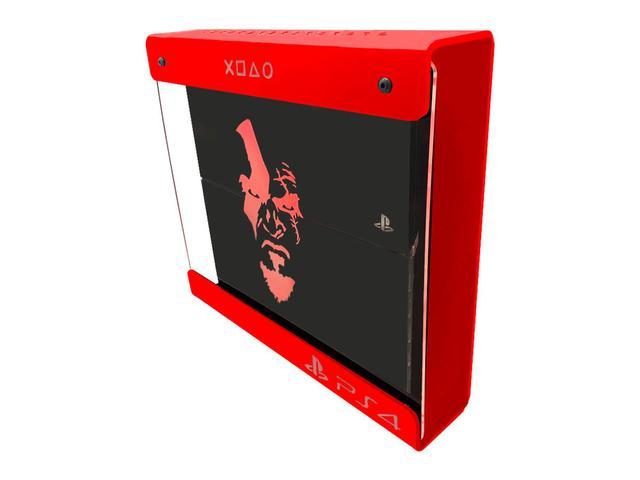 Imagem de Suporte Parede Iluminado Shield Ps4 FAT Vermelho - Vermelho - God Of War (face)