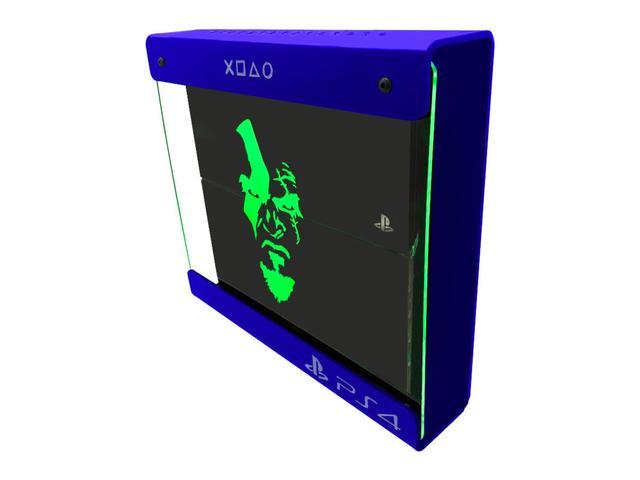 Imagem de Suporte Parede Iluminado Shield Ps4 PRO - Azul - Verde - God Of War (face)