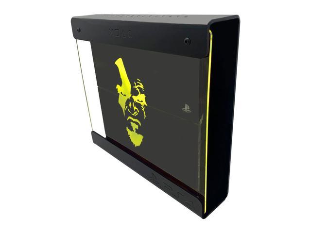 Imagem de Suporte Parede Iluminado Shield Ps4 Slim - Preto - Amarelo - God Of War (face)