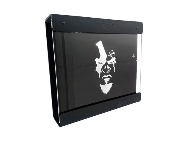Imagem de Suporte Parede Iluminado Shield Ps4 Slim - Preto - Branco - God Of War (face)