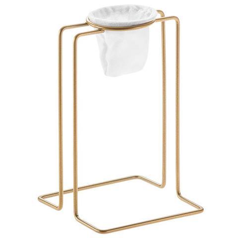 Imagem de Suporte Passador De Café Aramado Individual Mini Coador De Pano Dourado