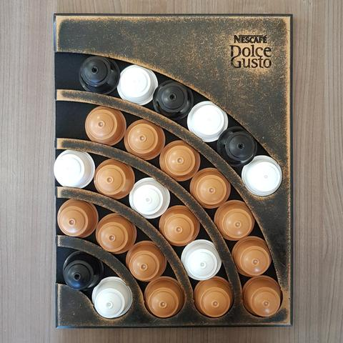 Imagem de Suporte Porta 25 Capsulas Parede Dolce Gusto MDF Artesanal
