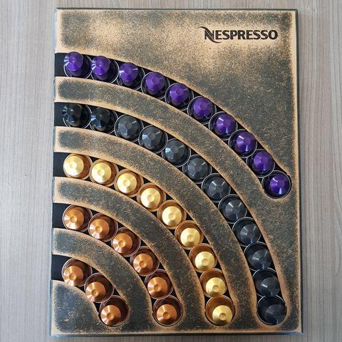 Imagem de Suporte Porta 40 Capsulas Parede Nespresso MDF Artesanal