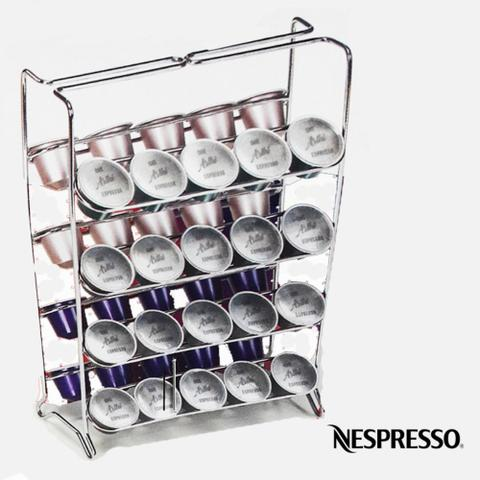 Imagem de Suporte Porta Cápsulas de Café Expresso Nespresso Arthi 1624 Aço Cromado