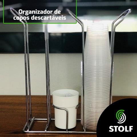 Imagem de Suporte Porta Copos Descartáveis 80/200ml Organizador