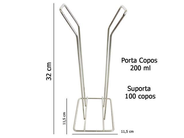 Imagem de Suporte Porta Copos Descartáveis Cafe Coffe 200ml Bancada