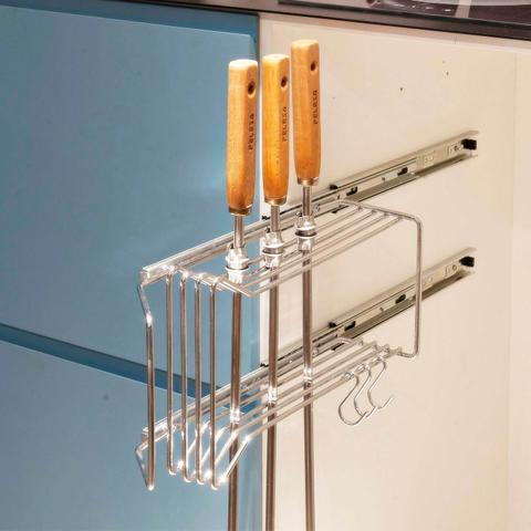 Imagem de Suporte Porta Espetos Lateral em aço carbono - Uso interno