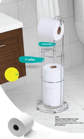 Imagem de Suporte porta Papel Higiênico Class Chão Papeleiro Banheiro 1022