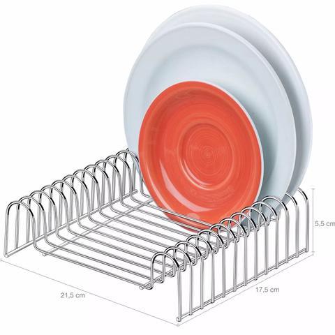 Imagem de Suporte Porta Pratos e Pires 12 Posições Organizador Armário Cozinha