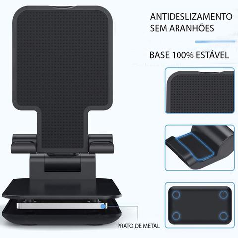 Imagem de Suporte Tablet Celular Mesa Universal Videoconferência Live - Branco