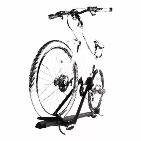 Imagem de Suporte Teto Bicicleta Transbike Eqmax Stark Prata Antifurto
