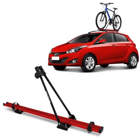 Imagem de Suporte Transbike Bicicleta para Rack de Teto Universal Vermelho e Preto com Capacidade Para 1 Bike