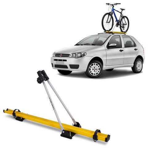 Imagem de Suporte Transbike de Bicicleta Para Rack de Teto Amarelo e Prata Capacidade Para 1 Bike Universal