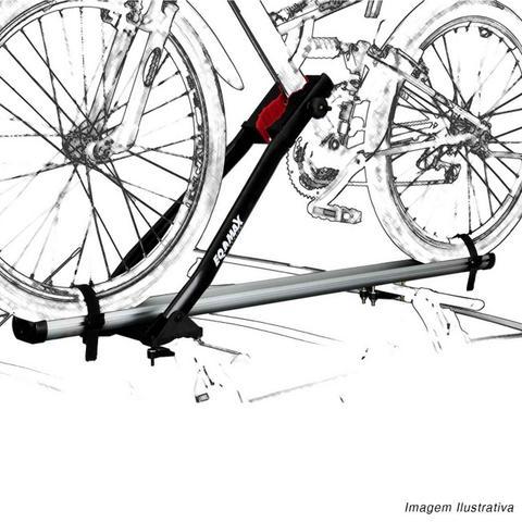 Imagem de Suporte Transbike para Rack de Teto Eqmax Velox Aluminium Prata Capacidade 1 Bicicleta