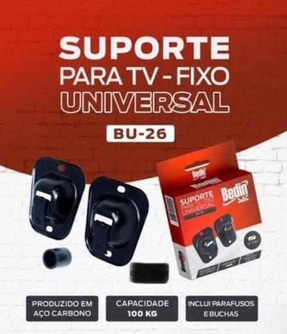 Imagem de Suporte Tv Fixo Parede Painel Madeira 10 A 85 Pol Reforçado