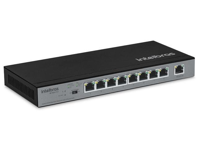 Imagem de Switch Fast Intelbras 4760032 9 Portas Fast Com 8 Portas Poe+ Sf 900 Poe