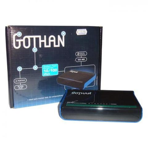 Imagem de Switch Gothan Fast Ethernet 8 Portas Ges-408 Ref.: 68144